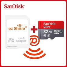 Ezshare sem fio wifi adaptador sandisk ultra 16gb 32gb class10 microsd wifi sem fio tf cartão micro cartão sd 64gb 128gb cartão de memória