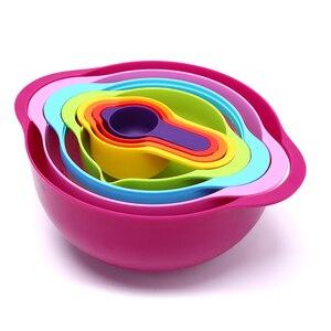 8 шт. мерный набор мисок для смешивания сито Ситечко Дуршлаг кухонные инструменты для выпечки