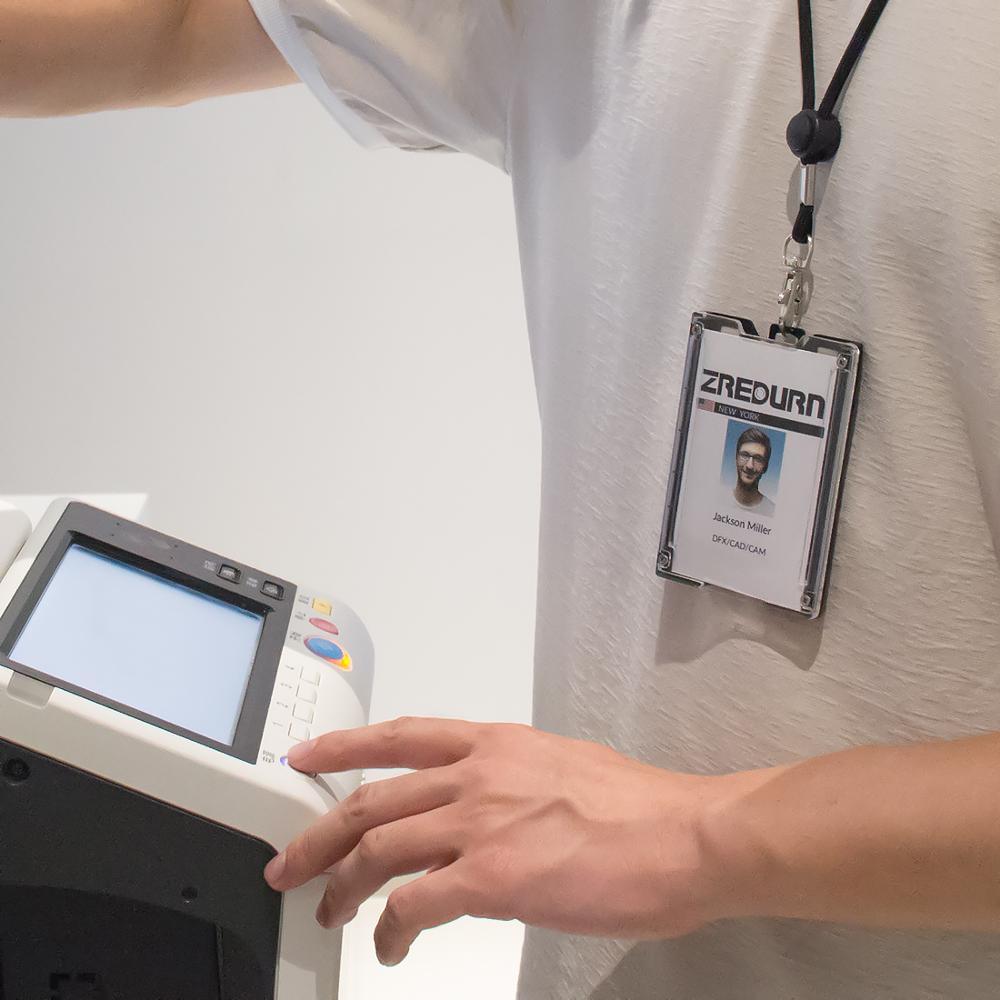Image 5 - Zayex, 2 шт., новая модель, держатель для ID бейджа, чехол, кошелек с ремешком, держатель для ID бейджа, для школы, для офиса-in Аксессуары и держатели значков from Офисные и школьные принадлежности