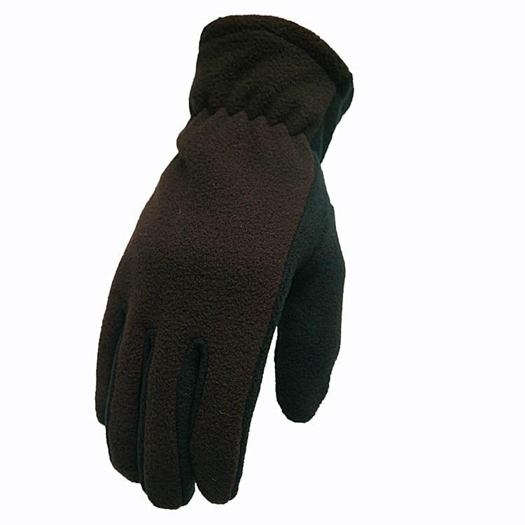 Male Winter Full Finger Warm Plus Velvet Touch Screen Outdoor Windproof Driving Non-slip Gloves