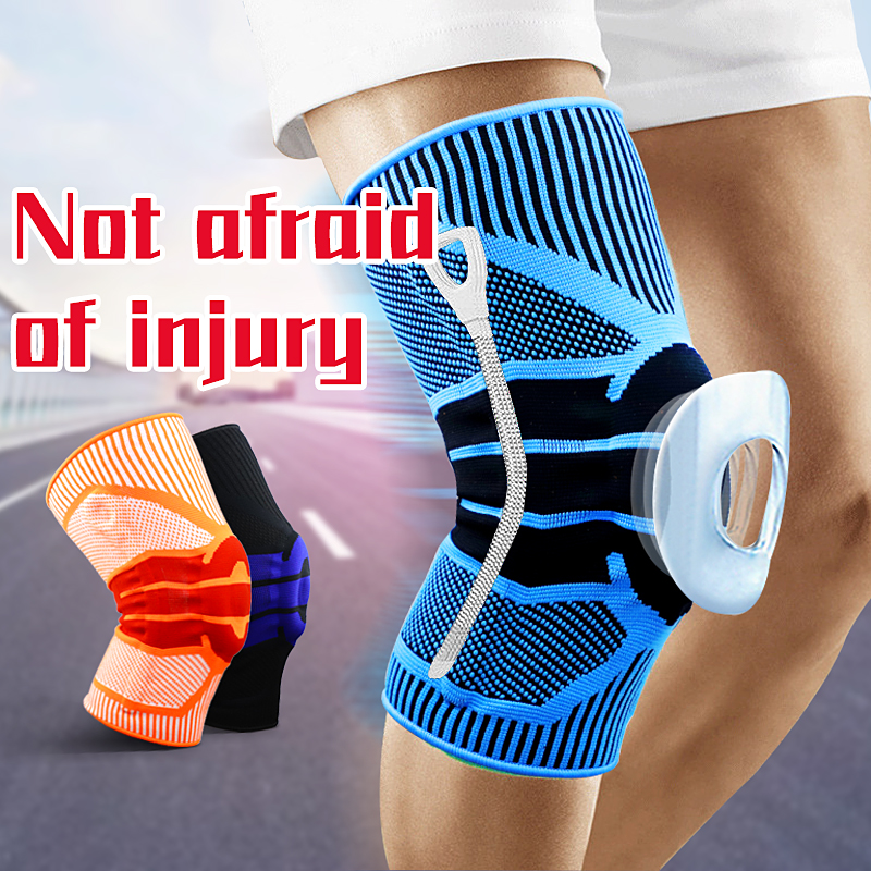 High Elastic Knee Support Brace Kneepads Adjustable Patella Basketball Volleyball Safety Guard Strap Protector KneePads