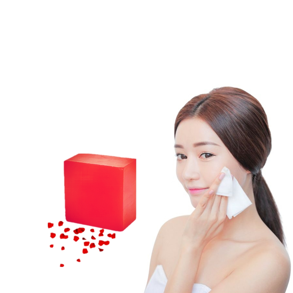 100% Nature Rose Essence Facial Cleansing Soap Skin Care Herbal Medicine Remove Blackheads Rose Hydrating Moisturizing Soap 1Pcs