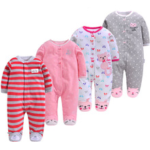 Baby clothes girls romper Infant clothing fleece bebe boy Outwear newborn pajamas warm 3M-12M baby christmas