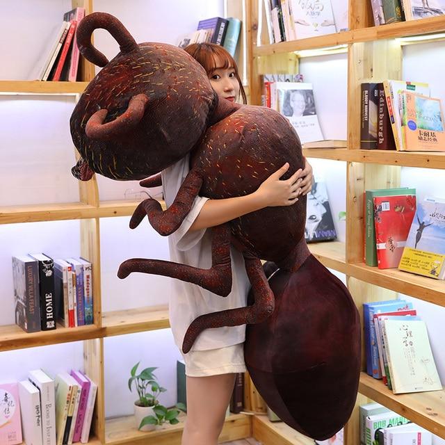 Giant Plush Red Ant Stuffed Soft Mini Animal Toy Creative Plushie Insect Decor Kids Boys Girls Grownups Gift 46/70/100cm 1