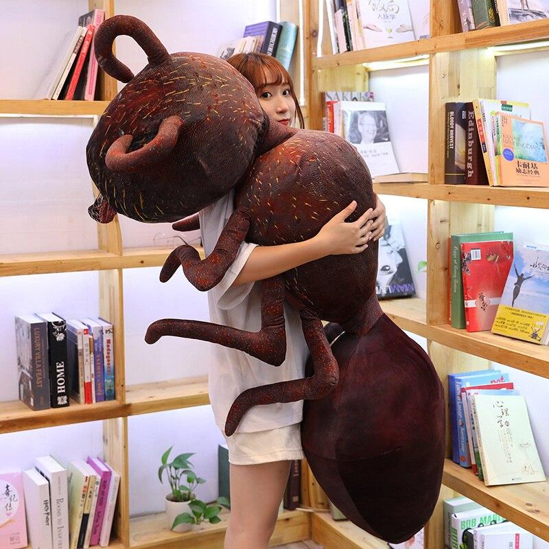 Гигантский плюшевый красный муравей, мягкая мини игрушка животные, креативный плюшевый Декор насекомых, дети, мальчики, девочки, взрослые, подарок 46/70/100 см|Мягкие игрушки животные|   | АлиЭкспресс