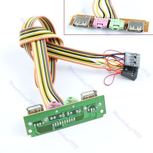 Câble d'écouteur de micro Audio d'usb de panneau avant de coque d'ordinateur de PC