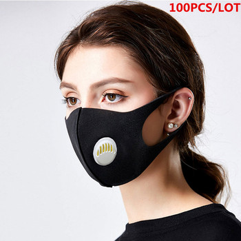100/10 Pcs Adult Waterproof Sponge Mouth Mask 3D Reusable Anti Pollution Cover Elastic Earloop Bacteria Proof Flu Face Masks