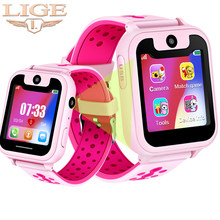 LIGE Children's Smart Watch LBS Oositioning Tracker SOS one button for help anti-lost Baby Watch Voice Micro Chat Kid smartwatch(China)