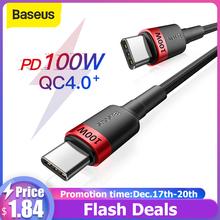 Baseus Quick Charge 4 0 PD-Kabel do szybkiego ładowania 100 W złącze USB typu C dla Xiaomi Redmi Note Pro szybkie ładowanie MacBook Pro kabel ładujący tanie tanio NONE TYPE-C CN (pochodzenie) Baseus 100W USB C to USB Type C Cable Aluminum + TPE + Nylon Braided Wire 0 5M (1 64 FT) 1M (3 28 FT) 2M (6 56 FT)