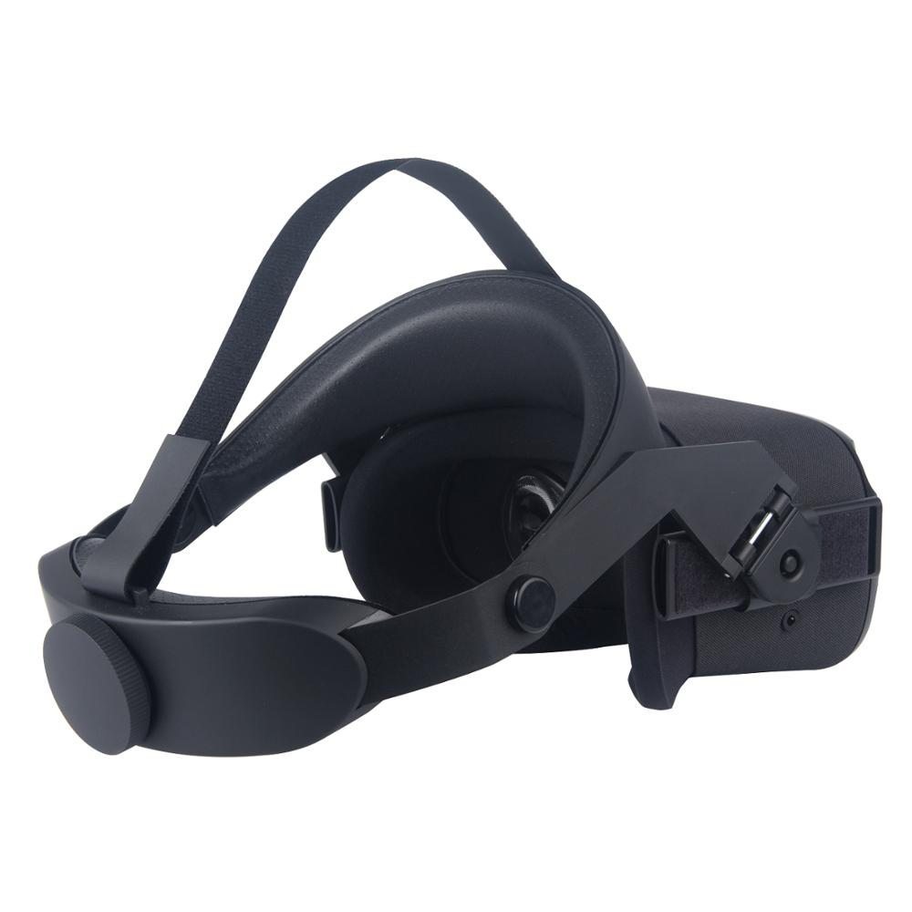 For Oculus Quest Adjustable VR Headset Headwear Pressure-relieving Non-slip VR Helmet 3D Virtual Reality Glasses 4