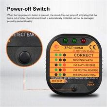 цена на ZPCT1806C Outlet Socket Tester Detector Circuit Polarity Voltage Plug Breaker US Ground Zero Line Switch Safety Electroscope
