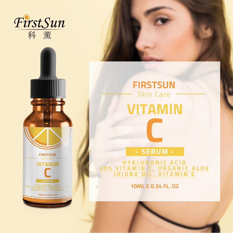 Face Care Vitamin C Serum Anti Wrinkle Hyaluronic Acid Whitening Firming Fade Spots Removing Freckle Anti Aging Face Skin Cream