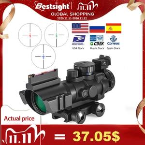 Image 1 - 4x32 Acog luneta 20mm jaskółczy ogon Reflex optyka zakres Tactical Sight dla polowanie Gun Rifle Airsoft Sniper lupa