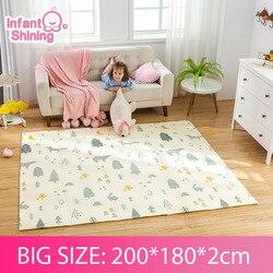 Infant Glänzende 2CM Baby Matte Spielen Matte für Kinder 180*200*2cm Playmat Dicker Größere Kinder teppich Weiche Baby Teppiche Krabbeln Fußmatten