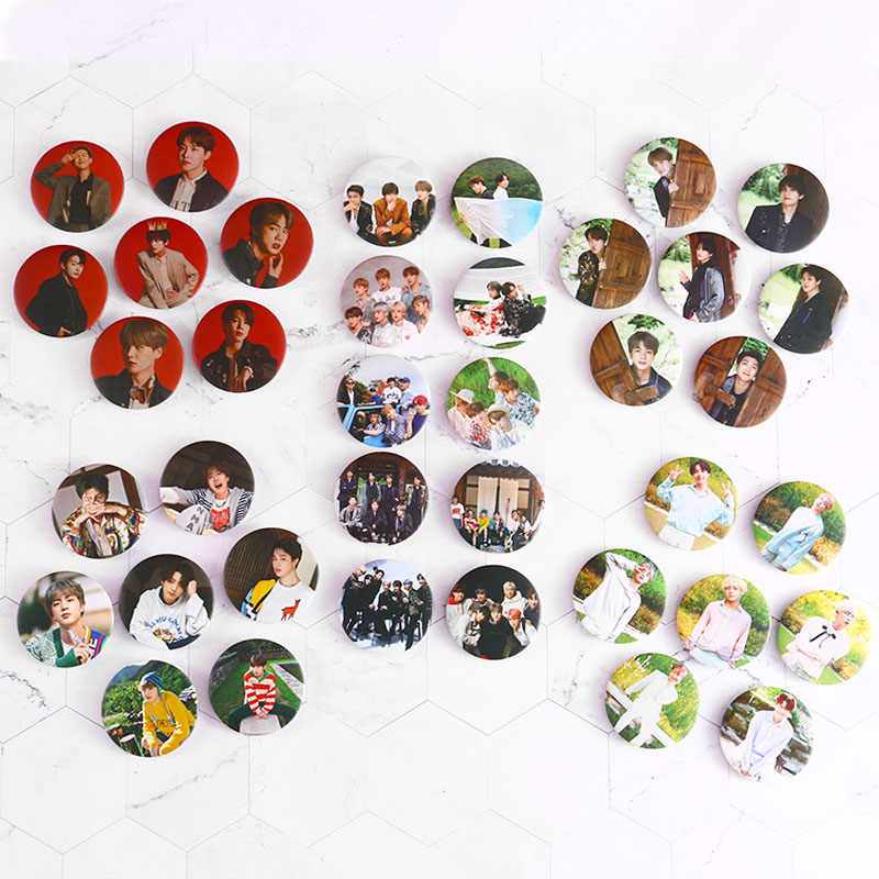 5cm Kpop Bangtan Boys pin Badge New Album Pins Brooch Accessories For Clothes Hat Backpack Decoration