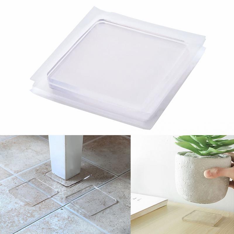 4pcs/set Non-Slip Mat Portable Multifuncational Anti Vibration Mat Washing Machine Silicone Pad Non-toxic Non-stick Surface