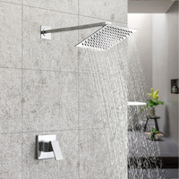 famous brand single use bend shower set 8/10/12 inch ultra thin stainless steel top spraying Angle can be adjusted