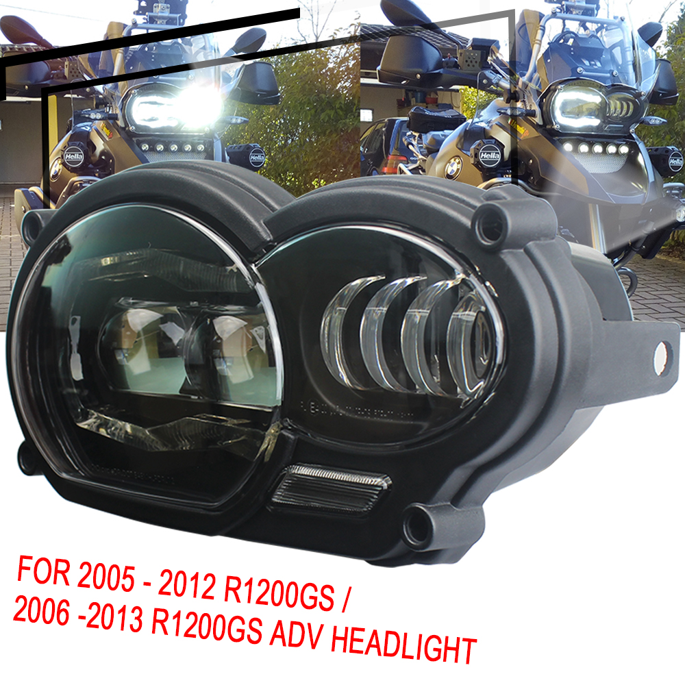 LED Headlight For BMW R1200GS 2005 - 2012 R 1200 GS Adv 2006-2013 R1200gs Lc (fit Oil Cooler)