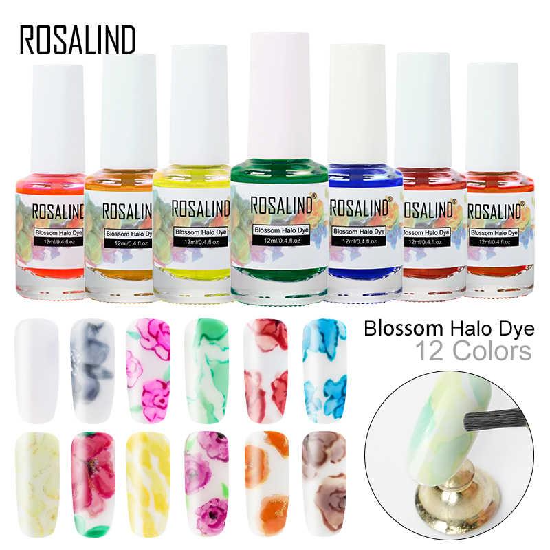 ROSALIND UV esmalte de uñas Gel esmalte flor 12ML Semi permanente UV Gel laca DISEÑO DE para manicura y Arte para uñas Halo tinte flor Gel