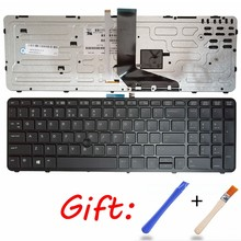 NEW English laptop backlit keyboard FOR HP for ZBOOK 15 17 G1 G2 PK130TK1A00 SK7123BL US black Frame(China)