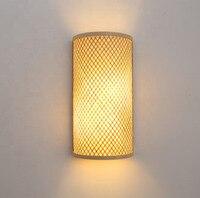 Nordycki styl postmodernistyczny design kinkiety prosta taśma szklana nowoczesna lampa ścienna Ins wiatr niebieski biały szary szklane kinkiety do domu w Wewnętrzne kinkiety LED od Lampy i oświetlenie na