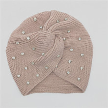 Winter Hat Stones-Hat Glass Solid-Stone Hair-Accessory Beanie Turban Girls Women Clear