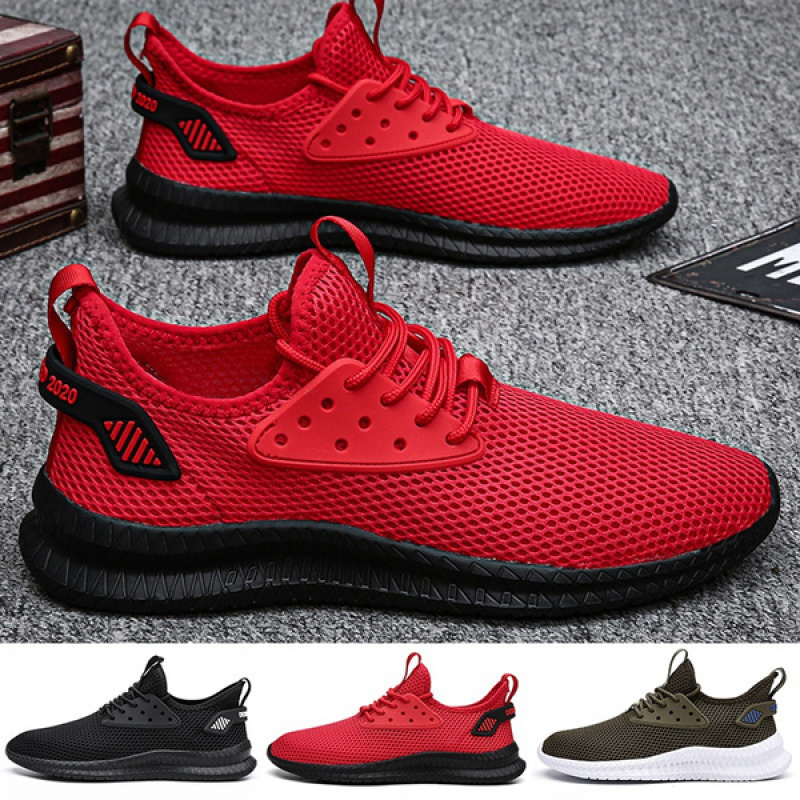 Summer Men's Fashion Breathable Running Shoes Non slip Casual Mesh Sneakers Lightweight...