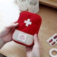 Kit de primeiros socorros ao ar livre portátil bolsa de viagem pacote de medicina kit de emergência sacos pequeno divisor de medicina organizador de armazenamento