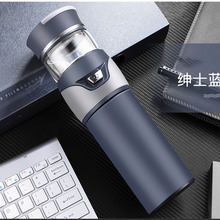 Tea Water Separation Thermos Bottle 304 Stainless Steel Tea Infuser Thermos Vacuum Flask Bottles With Tea Filter Two Cover