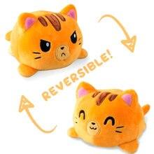Двусторонняя мягкая плюшевая игрушка Кот с откидной крышкой
