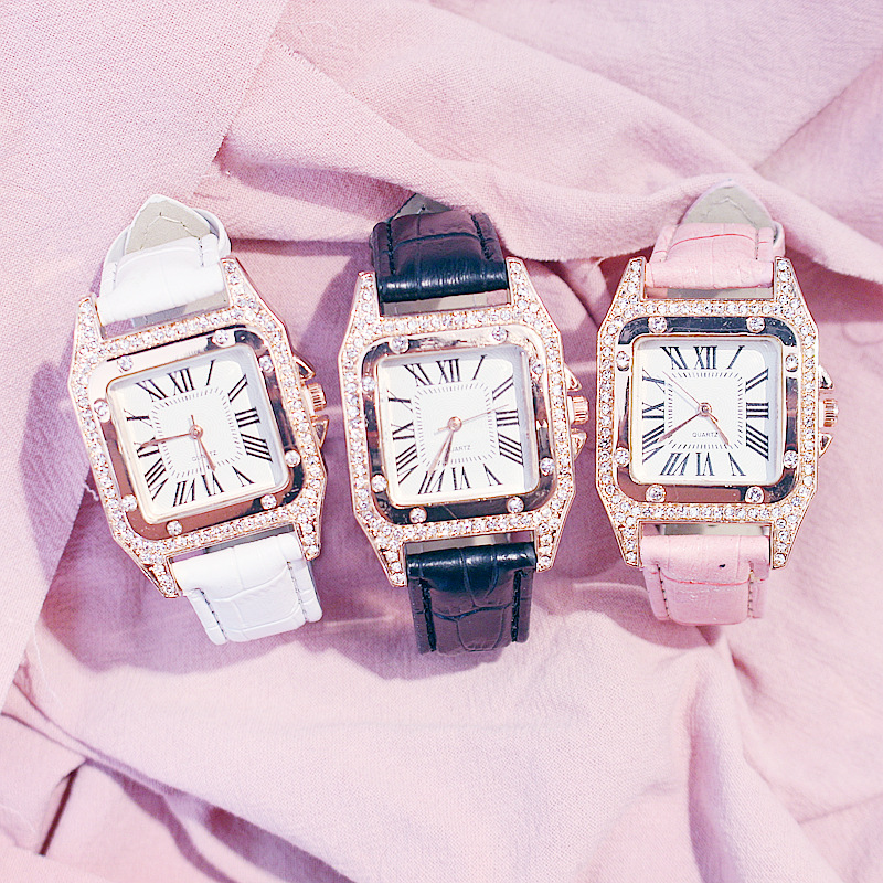 Reloj Mujer Beautiful Women Diamond Watch Starry Square 2021