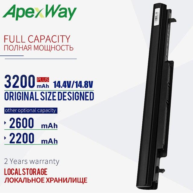 2200mAh batería de la batería K56C K56CB para Asus E46 E46C E46CA E46CB E46CM K46C K46CA K46CB K46CM K46V K56C K56CA K56CB K56CM K56V R405C