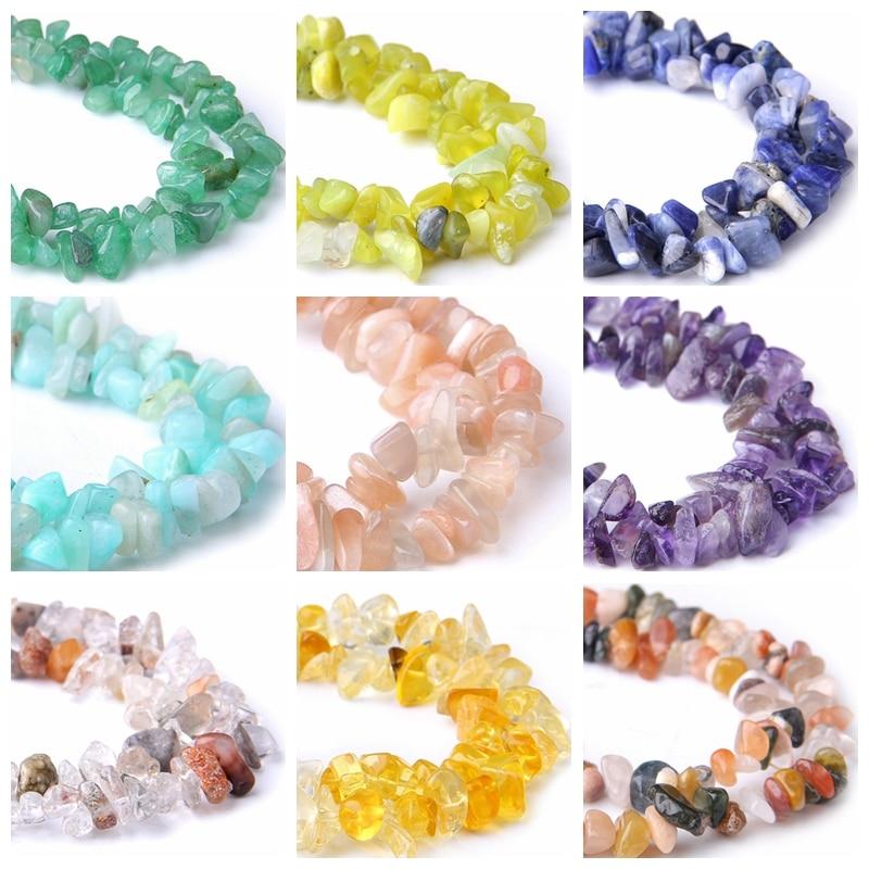 Lapis Lazuli Beads Rock-Chips Sunstone Jewelry-Making Amazonite Amethysts Natural Wholesale