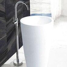 Черный/хром/Античный/Золотой напольный смеситель для ванной, смеситель горячей и холодной воды