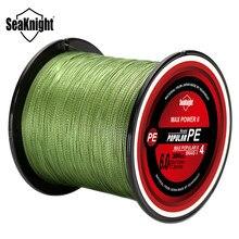 SeaKnight – ligne de pêche tressée TriPoseidon, 4 brins, 300M, PE, ligne de pêche Multifilament lisse pour la pêche à la carpe, 8-80lb