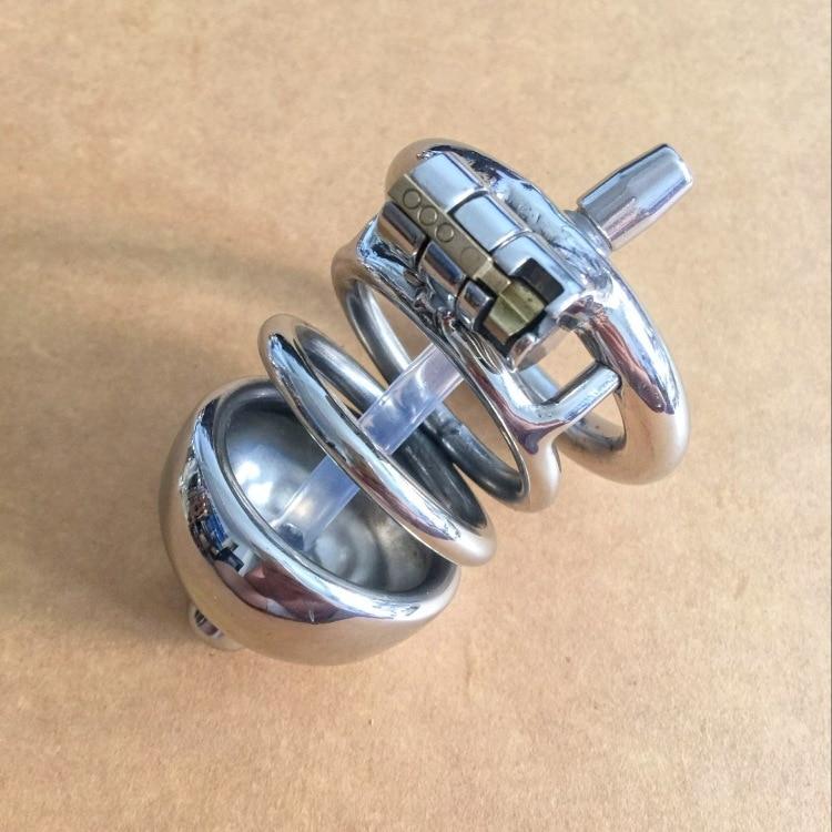 Male Stainless Steel Chastity Lock Belt Alternative Toys Horse Eye Stimulator for Adults