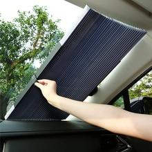 Retractable Car Sun Shade Windshield Curtain Roller Blind Auto Sun Visor Protector UV Block Foldable Front Window Sunshade