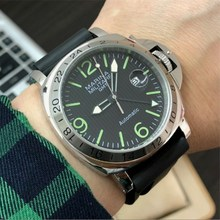 44mm Mens Military Pilot Mechanical Watches ST25 Automatic M