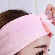 Laver le visage bandeau Turban élastique SPA démaquillant bandeau doux bain sueur coton Yoga sport Exercice accessoires outils
