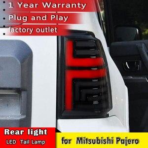 Image 2 - New Car Styling For Mitsubishi Pajero V93 V97 2007 2019 Tail Brake Light Rear Turn Signal Lamp car accessories