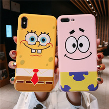 Phone Case For iphone XR 6 6s 7 8 Plus silicone For iPhone XS Max 7 XR soft tpu Cartoon pattern phone cover for iphone 7 case