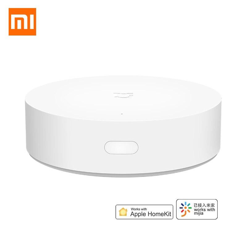 Xiaomi mijia multimodo gateway hub zigbee 3.0 wifi bluetooth malha inteligente centro de controle remoto trabalho com dispositivo segurança homekit
