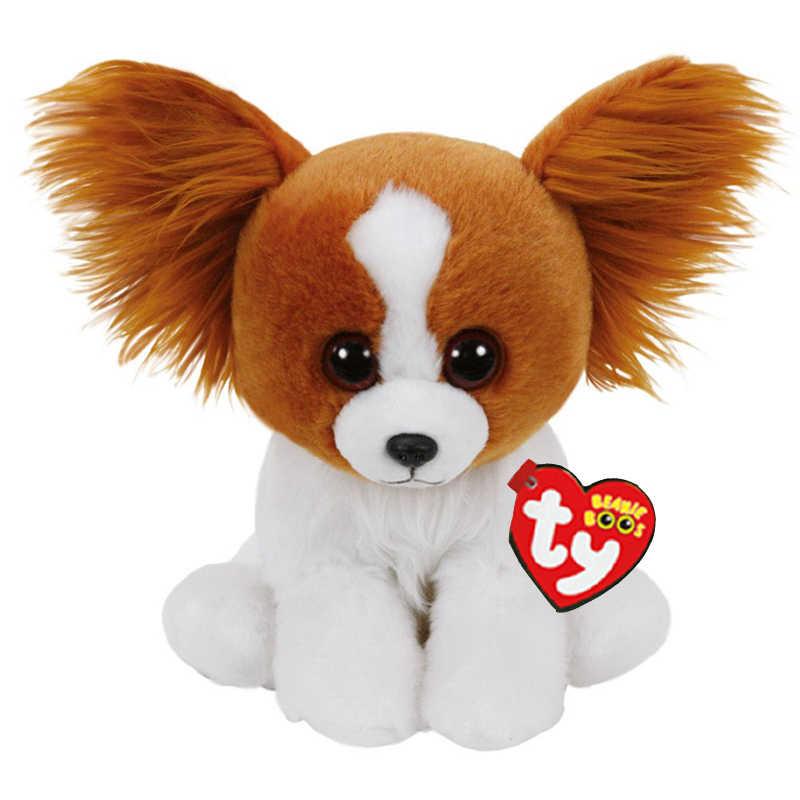 Ty крупяные куклы 15 см лает собака плюшевые обычные мягкие чучело коллекционная