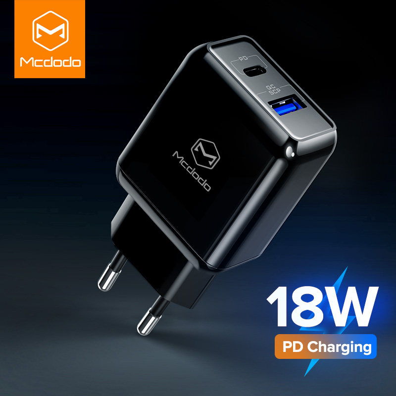 MCDODO 18W PD Multi USB Charger QC 3.0 Quick Charge Fast EU Plug Wall Adapter Mobile Phone Charging For iPhone Xs Xiaomi Samsung(China)