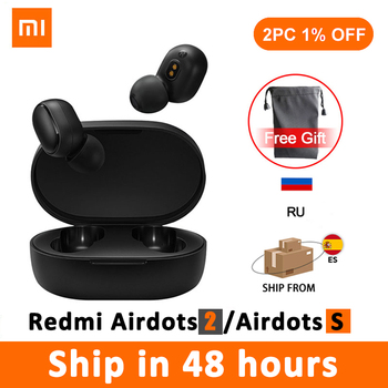 New Original Xiaomi Redmi Airdots 2 TWS Noise reduction Bluetooth Earphone Stereo bass 5.0 With Mic Handsfree Earbuds AI Control