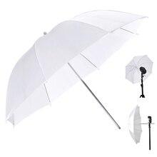 """85 см 3"""" 105 см 43"""" Белый Зонт помощь вспышка света белый фото зонтик складной студийный светоотражатель для студийных аксессуаров"""