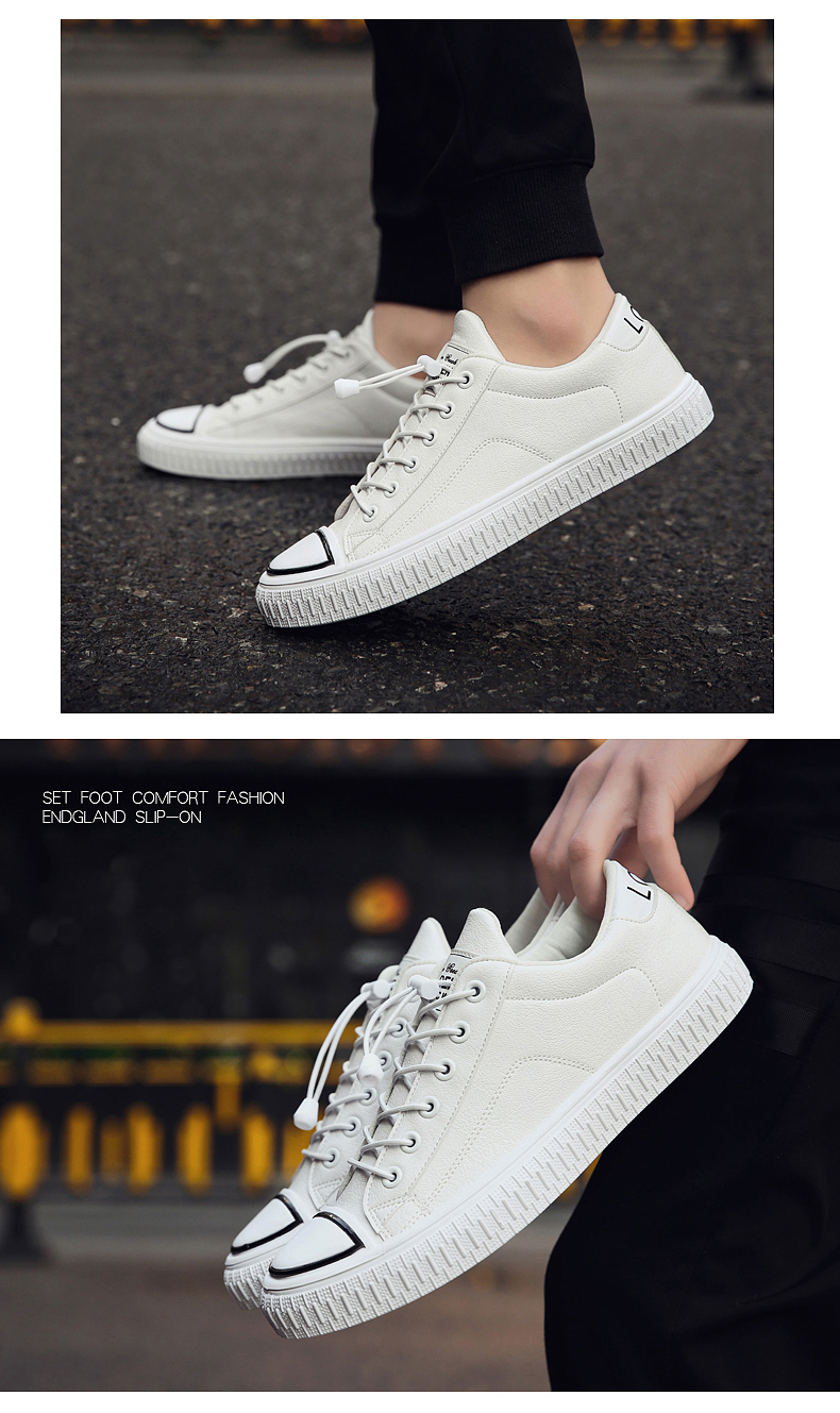 Leather Shoes Men Fashion All Match British Style