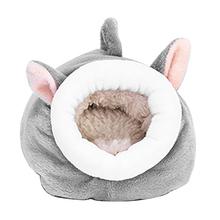 Chomiki karłowate małe zwierzęta przenośne gniazdo jeże wiewiórka zima miękki ciepły dom śliczne świnka morska łatwe do czyszczenia łóżko dla zwierząt tanie tanio HOUSEEN CN (pochodzenie) Polar