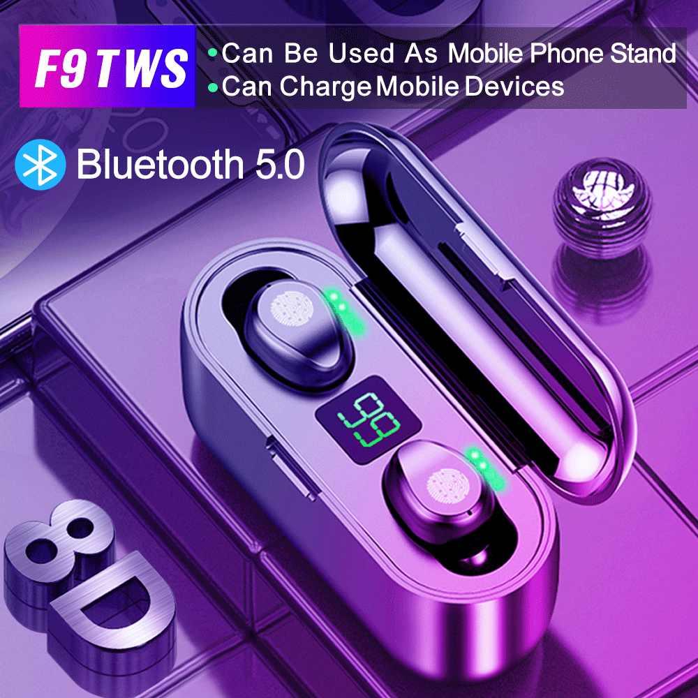 Rockspace TWS Bluetooth 5.0 イヤホンステレオワイヤレス Earbus ハイファイサウンドスポーツヘッドフォンハンズフリーゲーミングヘッドセットとマイク