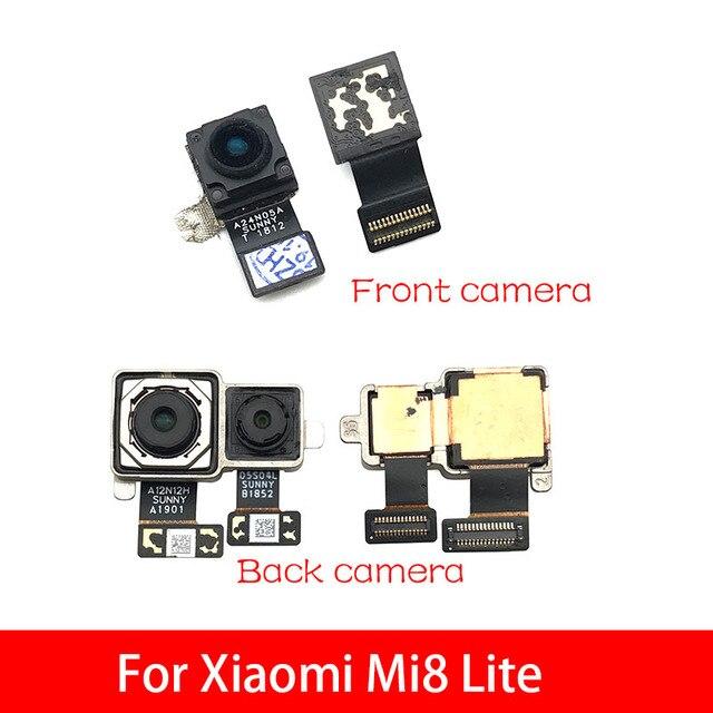 كاميرا خلفية خلفية وحدة الكابلات المرنة + الجبهة التي تواجه الكاميرا ل Xiao mi 8 mi 8 لايت استبدال